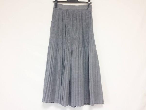 ユナイテッド トウキョウ ロングスカート サイズ1 S レディース美品  グレー プリーツ