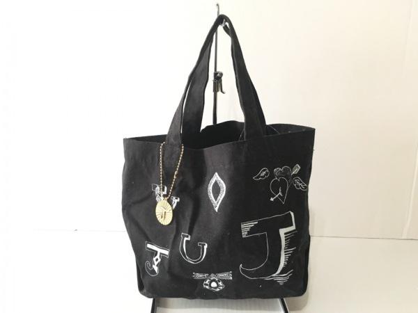 joujou(ジュジュ) トートバッグ 黒×白 コットン