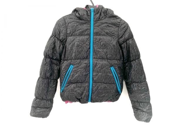 Roxy(ロキシー) ダウンジャケット サイズS レディース美品  黒×ピンク×ブルー