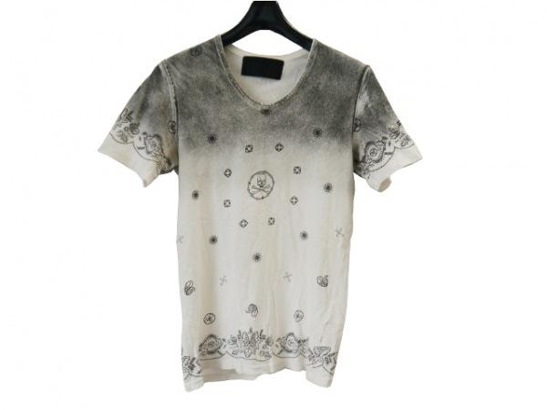 Roen(ロエン) 半袖Tシャツ サイズ44 L メンズ美品  アイボリー×ダークグレー スカル