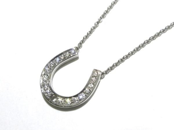 ティファニー ネックレス美品  ホースシュー Pt950×ダイヤモンド