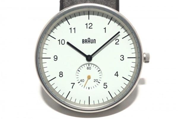 BRAUN(ブラウン) 腕時計 - BN0024WHBKG メンズ 革ベルト 白