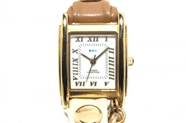 ラメール 腕時計 SR626SW レディース アイボリー×ゴールド×マルチ