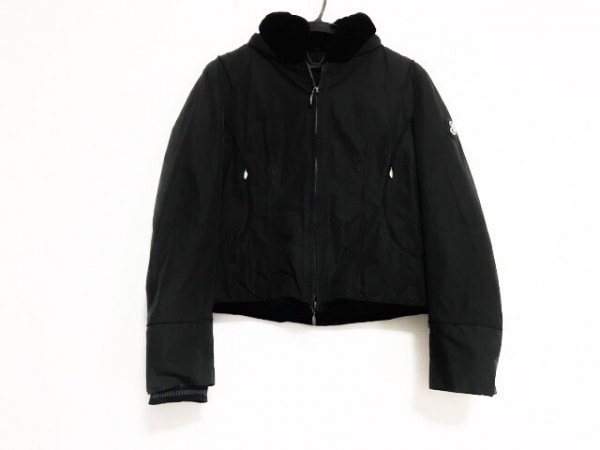 ジェオスピリット ブルゾン サイズ40 M レディース美品  黒 春・秋物/ラインストーン