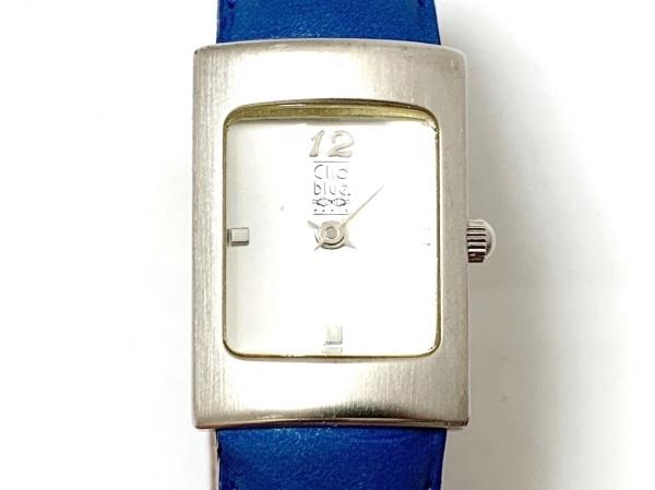 Clioblue(クリオブルー) 腕時計美品  C11237-L9 レディース 革ベルト シルバー
