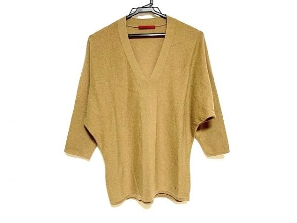 キャロリーナ ヘレラ 七分袖セーター サイズXS レディース ブラウン Vネック