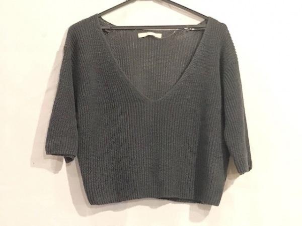 evam eva(エヴァムエヴァ) 七分袖セーター レディース美品  黒