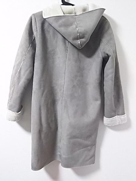 ビームスライツ コート サイズ38 M レディース美品  グレー 冬物/フェイクムートン