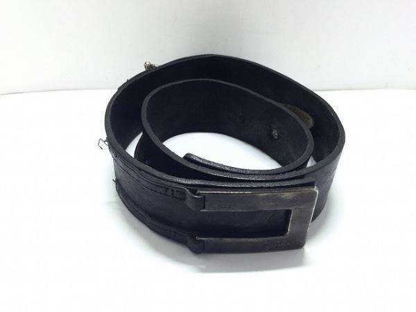 G-STAR RAW(ジースターロゥ) ベルト 90 黒×シルバー レザー×金属素材