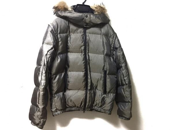 TETE HOMME(テットオム) ダウンジャケット サイズ7 メンズ ベージュ×ダークグレー