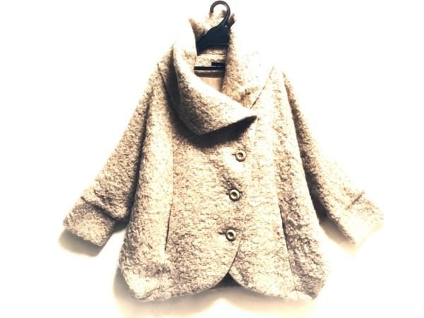 ベーセッツ コート サイズ38 M レディース ベージュ×ブラウン ラメ/冬物