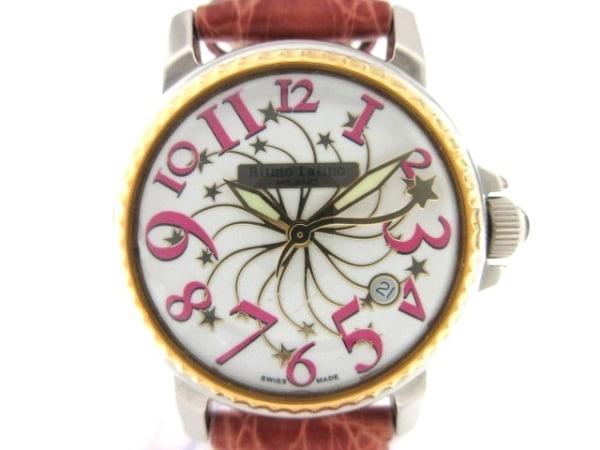 Ritmo Latino(リトモラティーノ) 腕時計 - レディース 革ベルト/型押し加工/スター 白