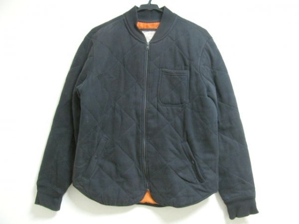 アメリカンイーグル ダウンジャケット サイズM メンズ 黒 キルティング/冬物/中綿