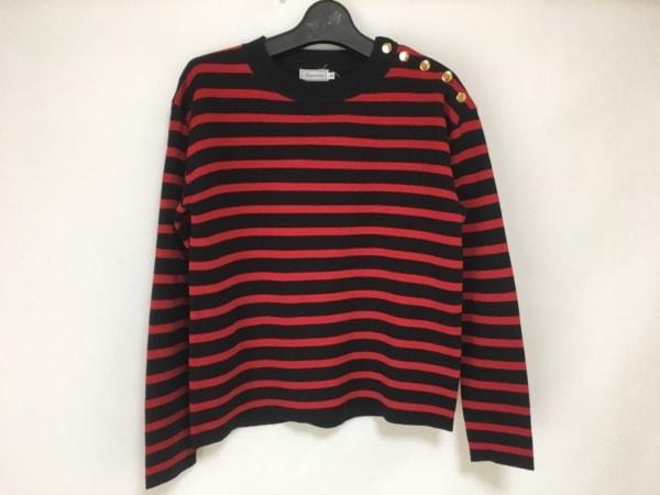 anatelier(アナトリエ) 長袖セーター サイズ38 M レディース 黒×レッド ボーダー