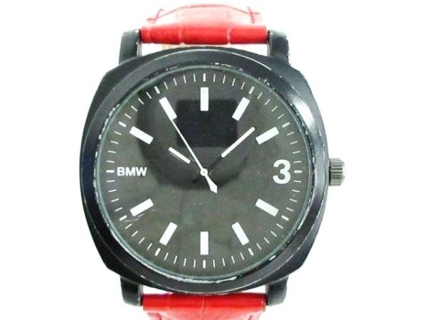 BMW(ビーエムダブリュ) 腕時計 - メンズ 40th Anniversary/型押し革ベルト 黒