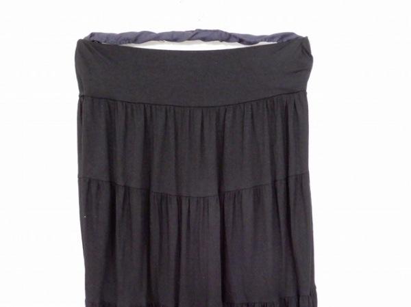 three dots(スリードッツ) ロングスカート サイズXS レディース 黒