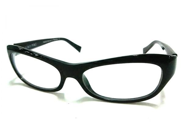 ALAIN MIKLI(アランミクリ) メガネ 黒×クリア プラスチック