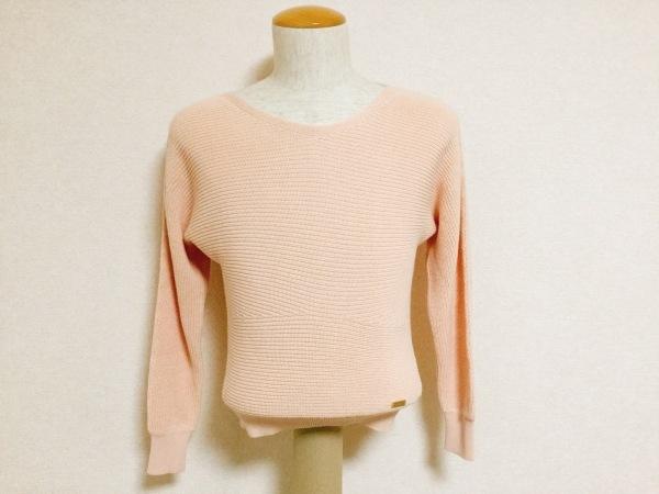 ブルーレーベルクレストブリッジ 長袖セーター サイズ38 M レディース美品  ベージュ
