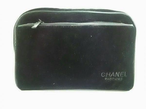 CHANEL PARFUMS(シャネルパフューム) ポーチ 黒 ベロア