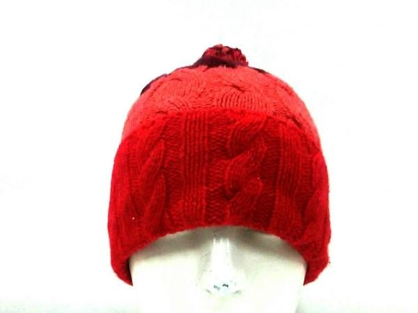 パタゴニア ニット帽 レッド×ピンク×パープル ウール×ナイロン×ポリエステル
