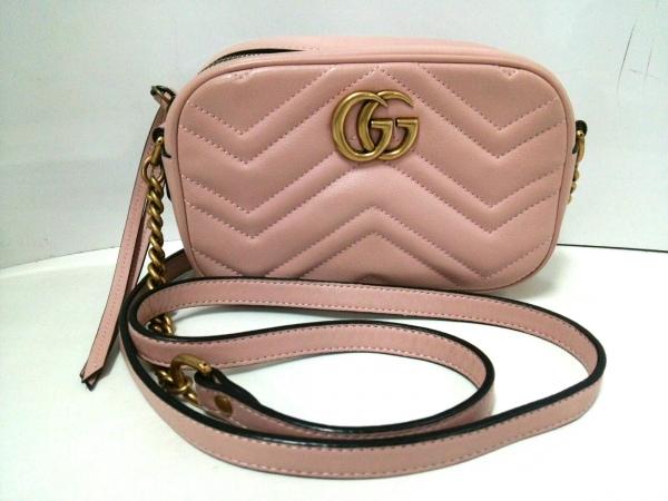 グッチ ショルダーバッグ GGマーモント キルティング ミニバッグ 448065 ピンク
