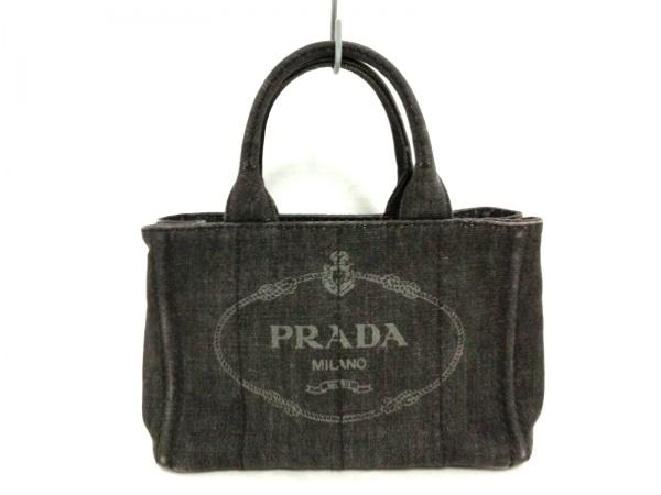 PRADA(プラダ) トートバッグ CANAPA ダークグレー×グレー デニム