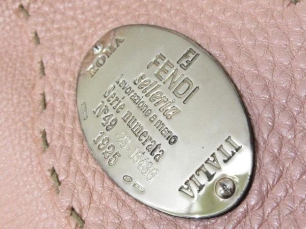FENDI(フェンディ) トートバッグ セレリア 8BR489 ピンク レザー