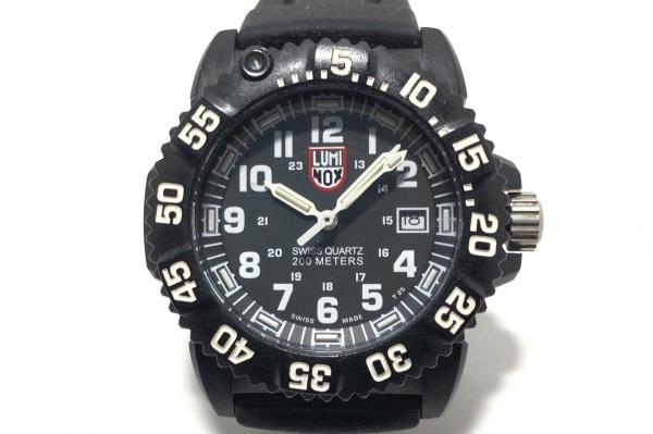LUMINOX(ルミノックス) 腕時計 シールズ 7050 レディース ラバーベルト 黒×白