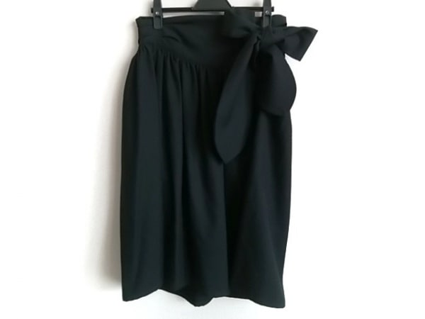 LIMI feu(リミフゥ) スカート サイズS レディース 黒 リボン