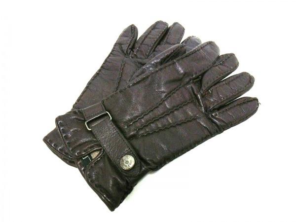 ALPO(アルポ) 手袋 レディース ダークブラウン レザー