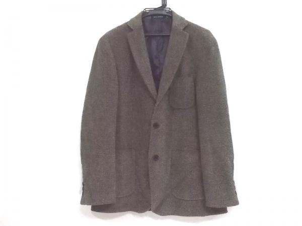 アドルフォドミンゲス ジャケット サイズ48 XL メンズ新品同様  黒×白