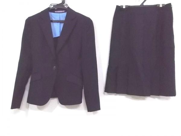 LES MUES(レミュー) スカートスーツ サイズ3S レディース ダークネイビー ストライプ