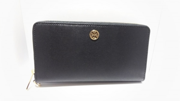 f455949ad6d6 TORY BURCH(トリーバーチ) 長財布美品 黒 ラウンドファスナー レザーの ...