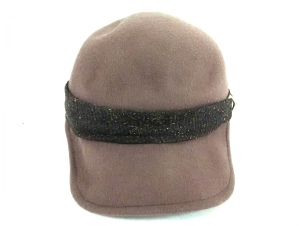 misaharada(ミサハラダ) 帽子 ブラウン×ダークブラウン ウール