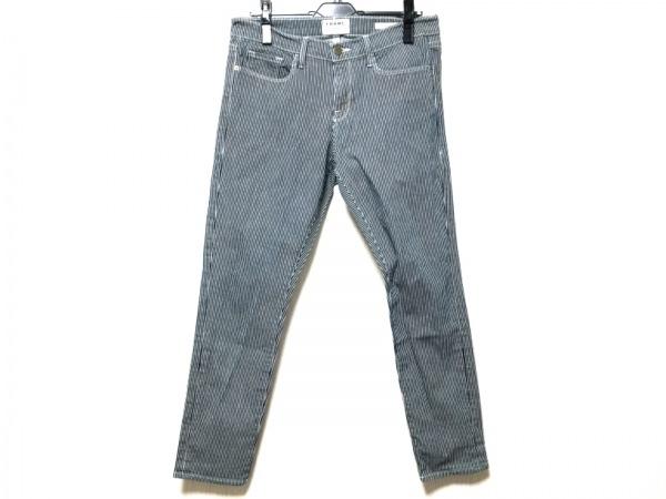 FRAME DENIM(フレーム デニム) パンツ サイズ28 L レディース ネイビー×白