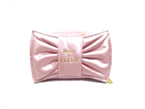 Maison de FLEUR(メゾンドフルール) 小物入れ ピンク 合皮