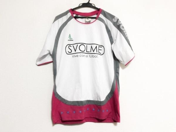 SVOLME(スボルメ) 半袖Tシャツ サイズM レディース美品  白×グレー×ピンク スター