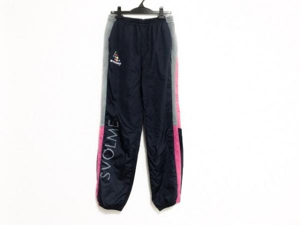 SVOLME(スボルメ) パンツ サイズL レディース ネイビー×ピンク×グレー