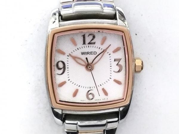 WIRED(ワイアード) 腕時計 1N01-0GE0 レディース 白