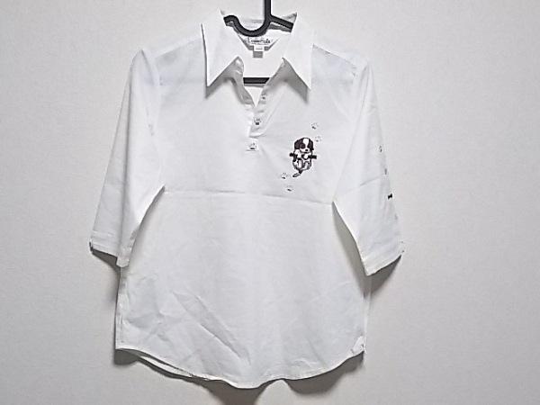 kunio sato(クニオ サトウ) 七分袖ポロシャツ サイズM レディース美品  白