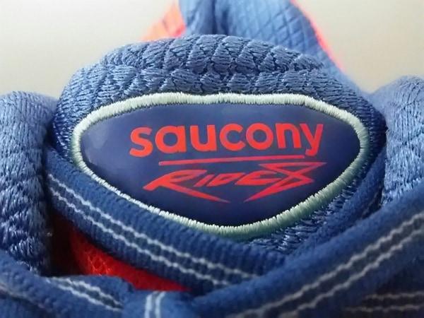 サッカニー スニーカー レディース美品  ピンク×ブルー×ライトグレー 化学繊維
