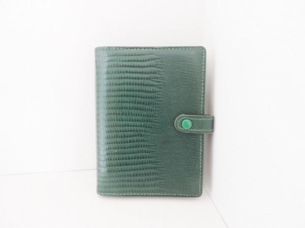 Filofax(ファイロファックス) 手帳 グリーン 型押し加工 レザー