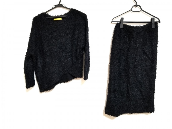 De bon coer(ドゥボンクール) スカートセットアップ レディース美品  黒