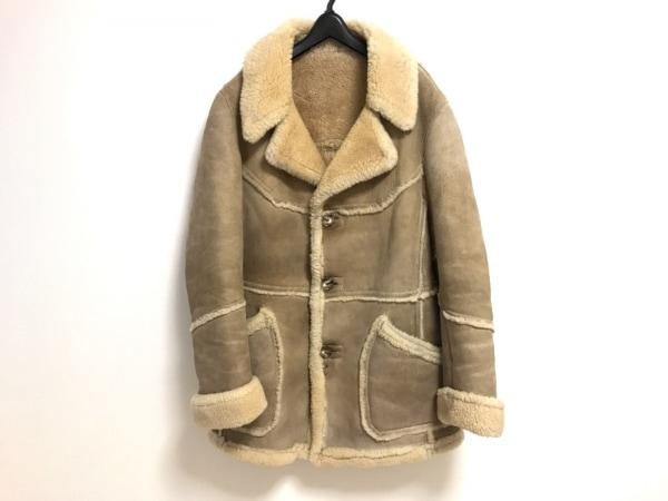 shearling(シャーリング) コート サイズM メンズ ベージュ×アイボリー ムートン/冬物