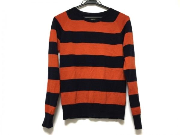 シンゾーン 長袖セーター サイズF レディース オレンジ MIRROR OF Shinzone/ボーダー