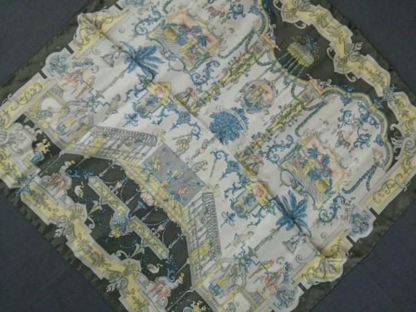 ETRO(エトロ) スカーフ美品  白×グレー×マルチ ミニサイズ/サーカス柄