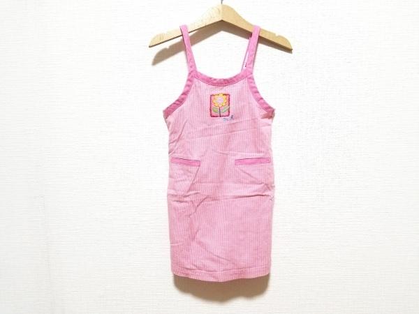 miki HOUSE(ミキハウス) ワンピース サイズ100 レディース美品  ピンク×マルチ