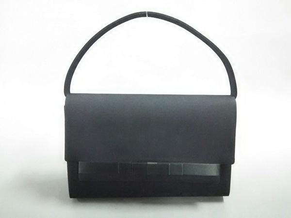 PETITSOIR(プチソワール) ハンドバッグ 黒 フォーマルバッグ ジャガード