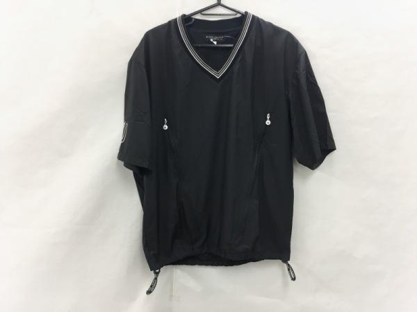 ミエコウエサコ 半袖カットソー サイズ48 XL メンズ美品  黒×白×ライトグレー