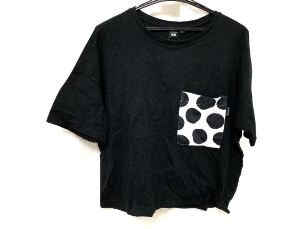 マリメッコ 半袖Tシャツ サイズ3-28 レディース美品  黒×白 ドット柄/ユニクロコラボ